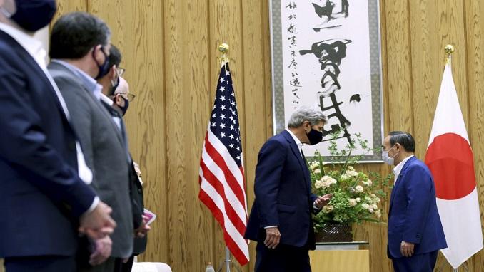 Kerry meets Japanese Prime Minister Yoshihide Suga